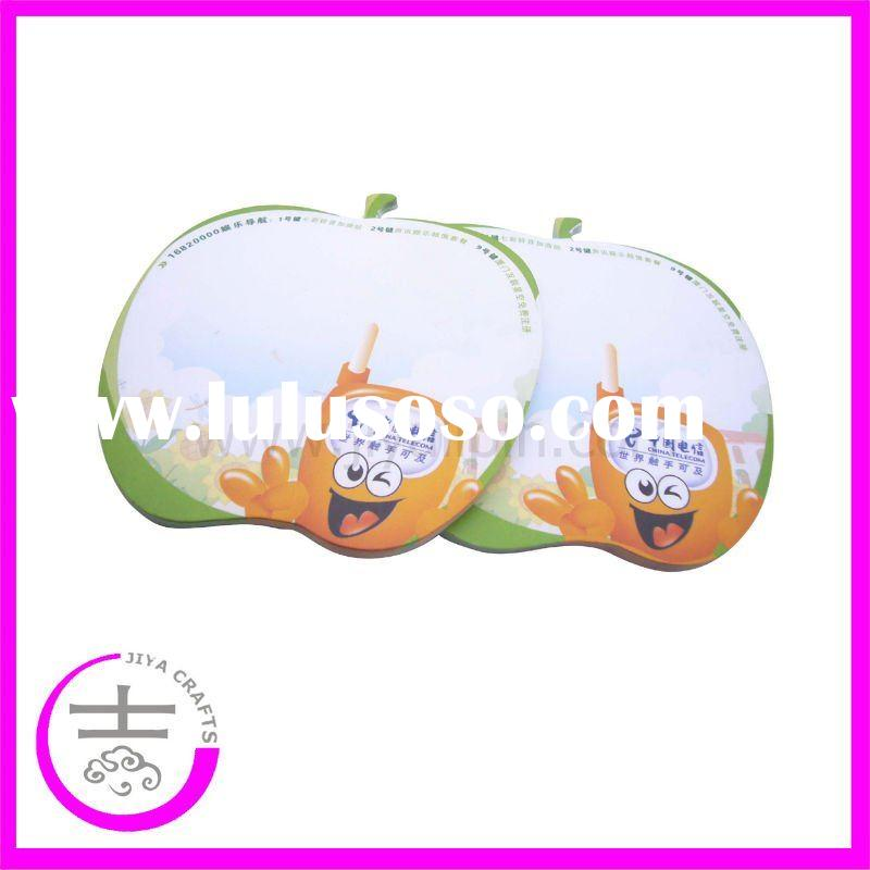Sticky pear shape fruit note pad