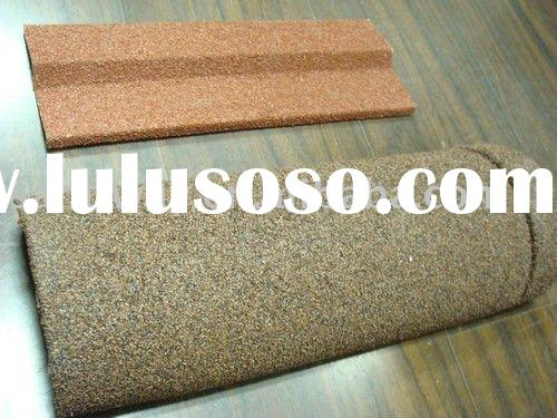 Stone chip coated metal roofing
