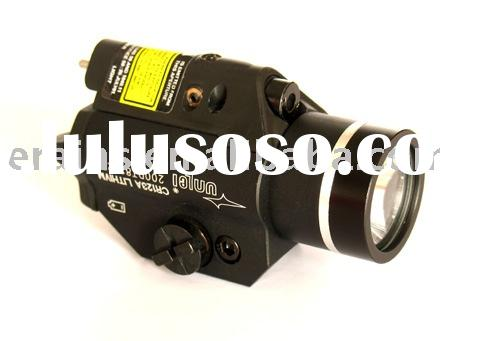 Strobe function on both red laser sight scope and 200 lumen CREE Q5 LED flashlight combo