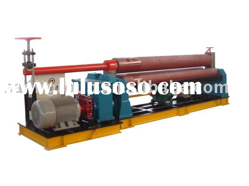 Symmetric plate coiling machine with 3 rollers, roll forming machine