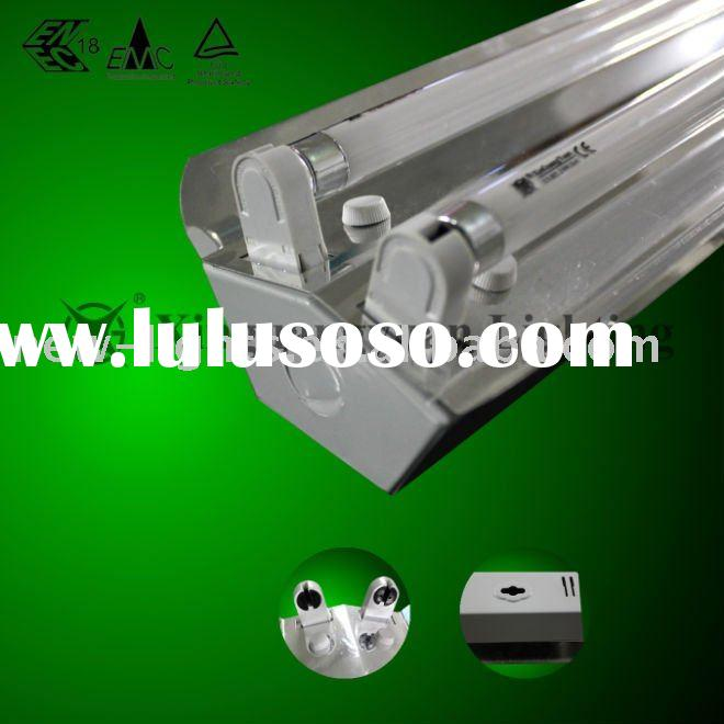 T5 double tube fluorescent light fitting with mirror aluminum reflector 2*28W