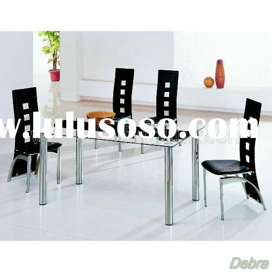 Tempered safety glass Dining Table + 6 Chairs