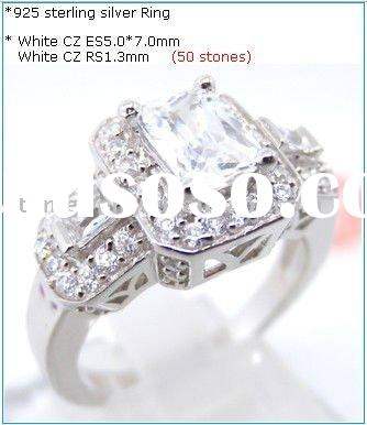 The latest fashion wholesale 925 silver zirconia rings (R5339)