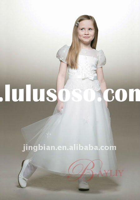 Tip Top Kids Dresses Ankle Length Taffeta Chiffon and Lace Flower Girl Dress 2012 Perfect Girl Weddi