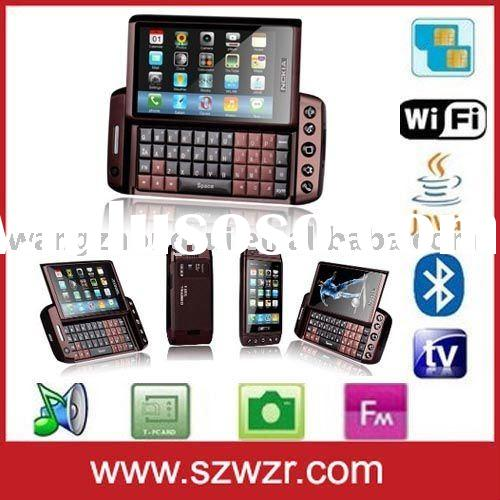 Touch screen slider GSM mobile phone T5000 with WIFI and TV