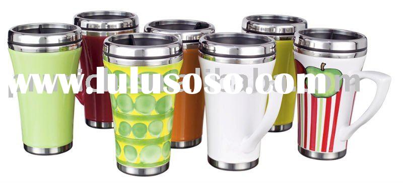 Travel mug; Stainless Steel & Ceramic mug