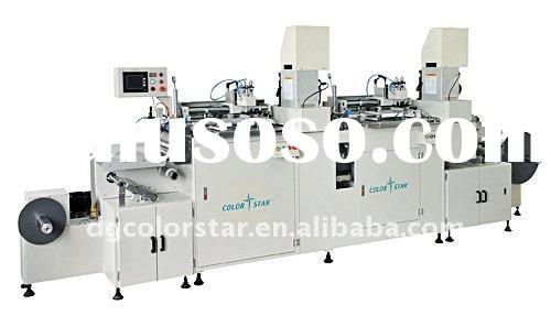 Two-color Automatic reel-to-reel screen printing machine