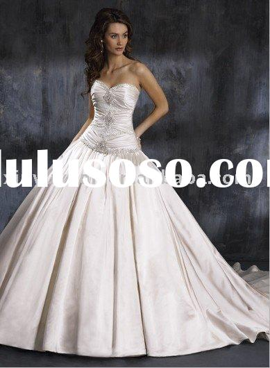 Two-piece, strapless, ball gown with sweetheart wedding dress neckline and corset closure,MA-058 ivo