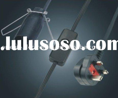 UK salt lamp power cord/for E14 size/with switch/BS approved