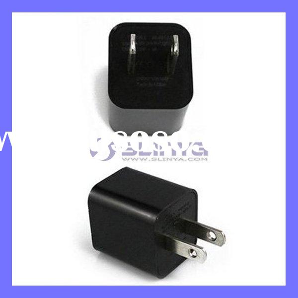 USB Power Adapter Wall Charger For iPhone 4 4G 3G 3GS iPod Black Color