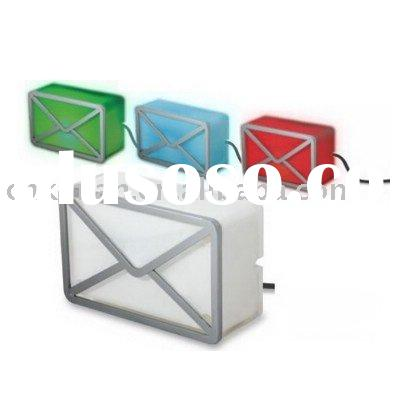 USB Web mail Notifier, USB Gadget, USB Toy with 3-color LED Light for Notification