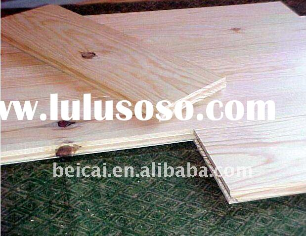 Unfinished Solid Red Pine Wood Flooring
