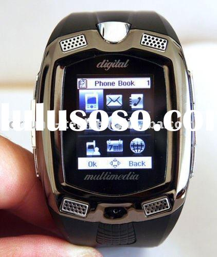 Unlocked GSM Tri-band Touch Screen MP3 MP4 Camera with TF Card Slot Watch Mobile Phone wristwatch ce