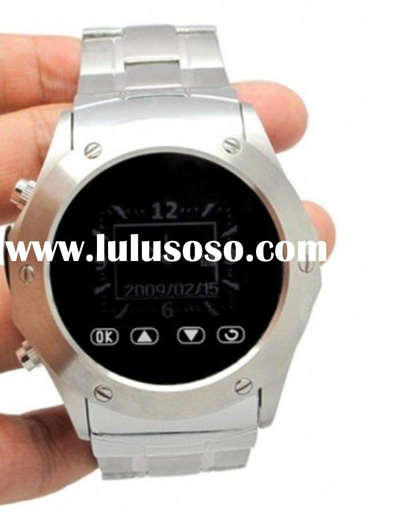 W968 Silver Mobile Cell Watch Phone,Stainless Steel Material
