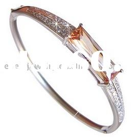 Wholesale 925 silver jewelry genuine silver bangle set with zircon