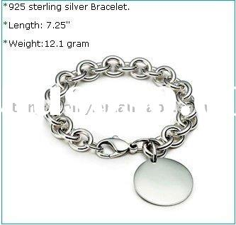 Wholesale fashion 925 sterling silver charms bracelet(B9604)