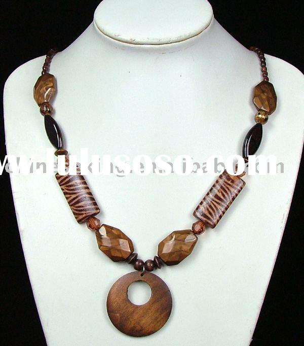 Wood necklace,wood bead jewelry,fashion wood jewelry,costume jewelry,woman necklace,imitation jewelr