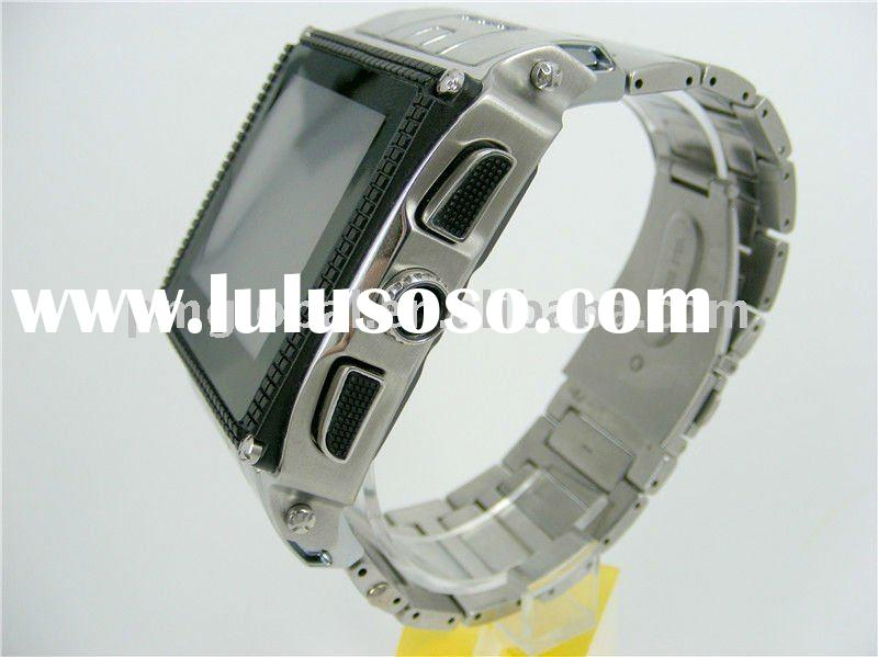 Wrist Watch Mobile Phone ( 2011 Stainless Steel Waterproof watch mobile phone, OLED resistive touchs