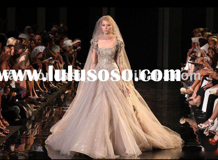 YS1870 2010 Fashion Paris Haute couture designer bridal wedding dress