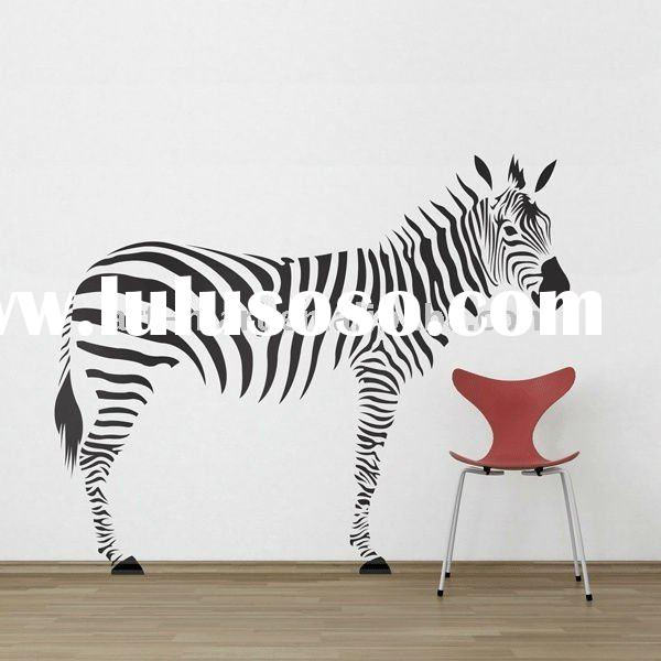 Zebra Wall Decals, French Home Decor, High Quality Wall Decal