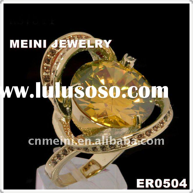 Zircon Fashion Gold Ring