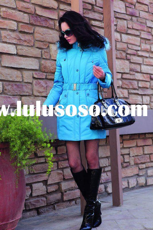 """""""LUOMIANA"""" BRAND Women`s Fashion Winter Down Clothes With Real Fur Collar"""