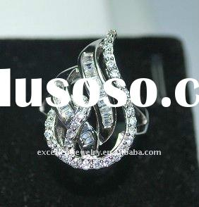 (ZAGX-R)2011 latest fashionable 925 silver couple ring