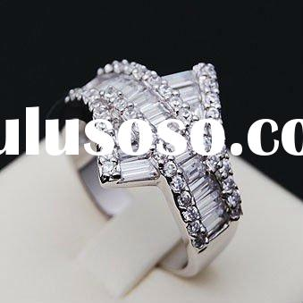 (ro0983)2012 Rhodium Plated Hot sale 925 silver ring