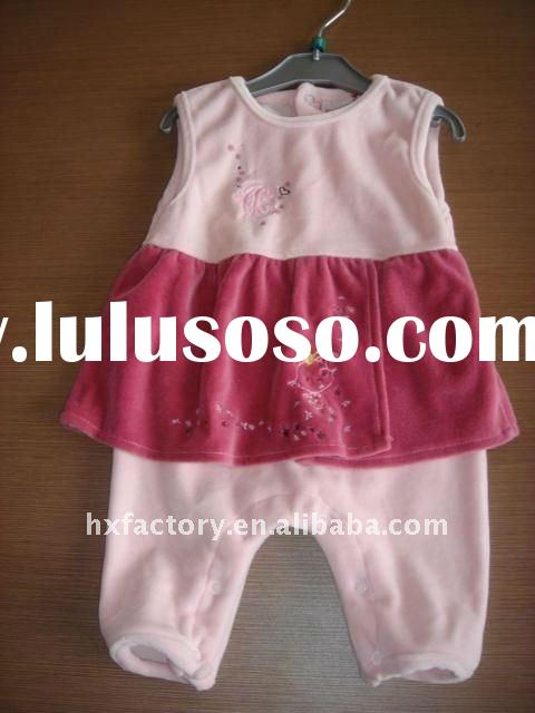 baby girl clothes with emb flowers MT2439