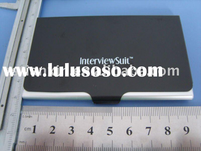 black aluminum business card case /engraving logo aluminum name card holder / fashion metal business
