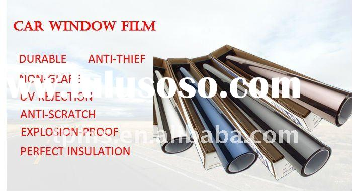 black colour solar and safety window film for car
