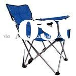 camping folding chair with cup holder and armrest
