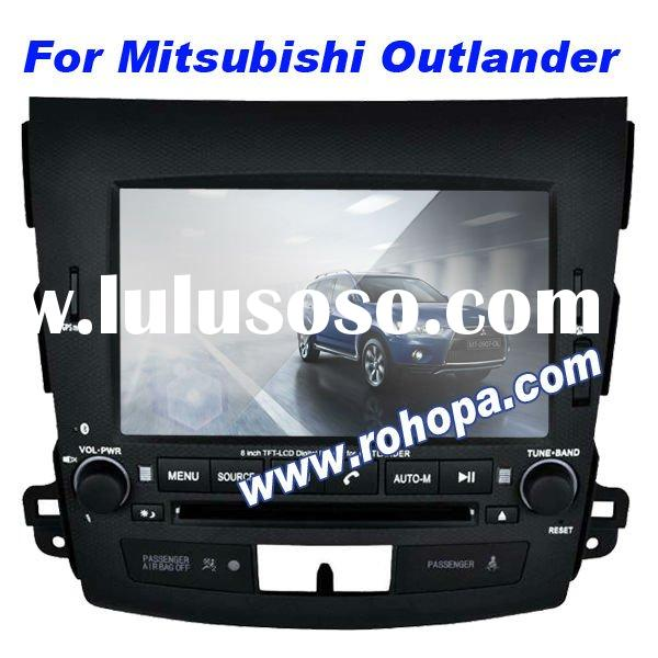 car dvd gps navigation system for Mitsubishi Outlander with 8-disc memory/RDS/ipod/mp5/bluetooth/can