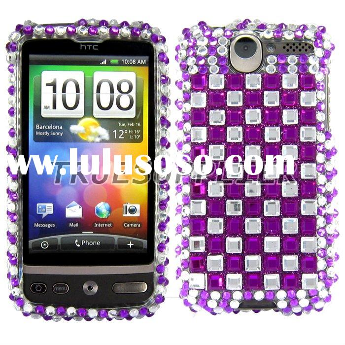 cell phone Rhinestone Diamond Hard Cases Cover for HTC Desire HTC G7
