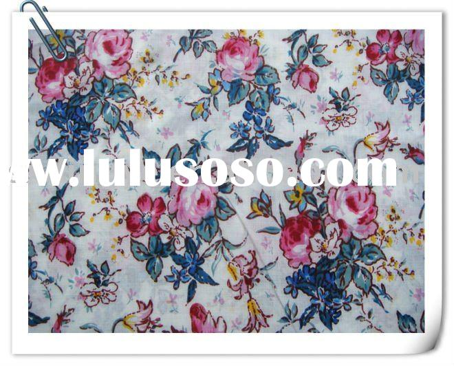 challie/rayon printed fabric with beautiful design