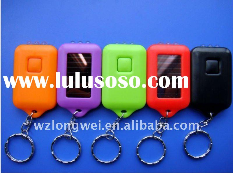cheap promotional solar LED keychains