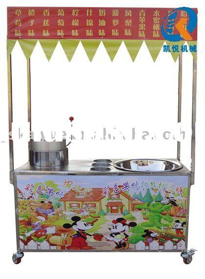 cotton candy and popcorn machine