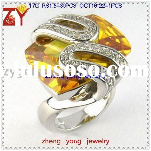 cubic zirconia rings, synthetic gemstone rings, fashion jewelry