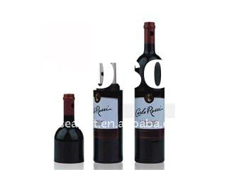 custom design red wine bottle shaped plastic usb memory