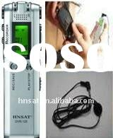 digital voice recorder with dual microphones, VOS and stereo recording
