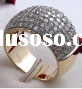 fashion 18k gold jewelry with diamond platinum ring or mounting