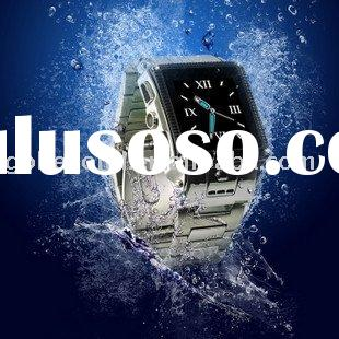 fashion Stainless Steel Waterproof Cell Phone Watch