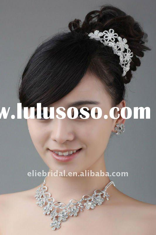 fashion crystal rhinestone wedding bridal jewelry set