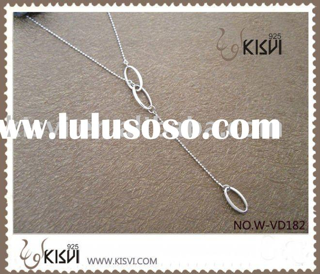 fashion jewelry 925 sterling silver necklace W-VD182