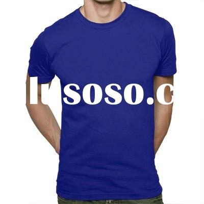 fashion o-neck cotton short sleeve fitted t shirt for men