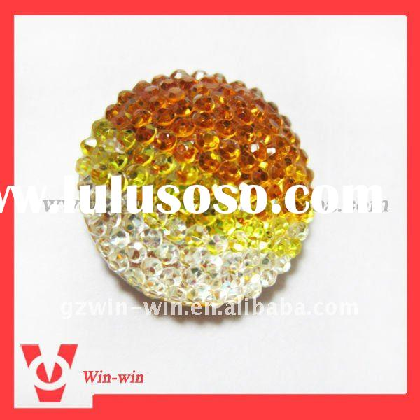 fashion round resin beads/buttons/rhinestones for clothing/gaments/hats/jewelry