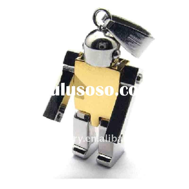 fashion stainless steel pendant jewelry with robot designs