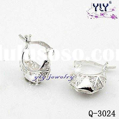 fashion sterling silver earrings jewelry