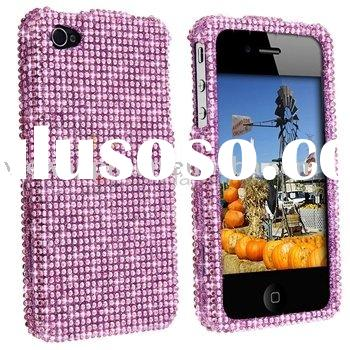 for iphone 4 4G New Pink Rhinestone Bling Case Cover