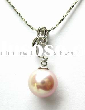 gold 925 silver fresh water pearl pendant jewelry